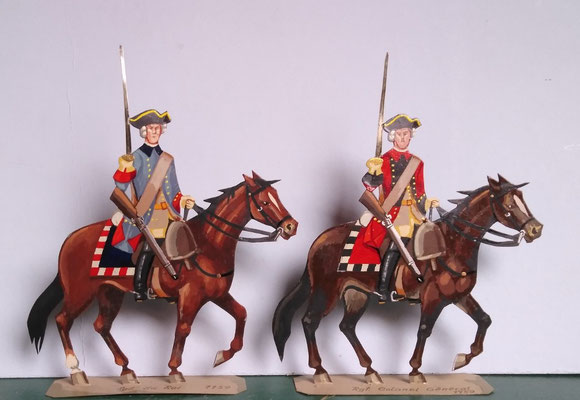 Schachtel 082 - Bild 22- Rgt. du Roi (blau), Rgt. Colonel Gènèral (rot)