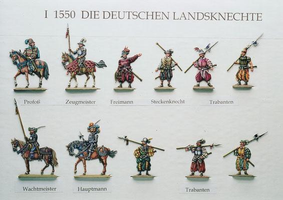 Stoll-Serie -  Deutsche Landsknechte I - Höhe 30mm - Sammlung und Bemalung Stoll