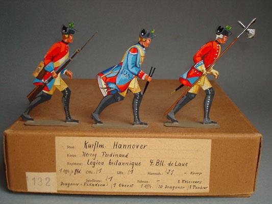 Schachtel 132 - Bild 3  - Hannover Herzog Ferdinand Legion britannique 4. Btl. de Laue