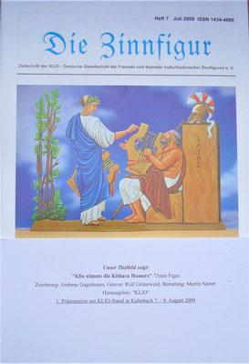 """Titelbild in der Zeitschrift """"Die Zinnfigur"""" Juli 2009"""