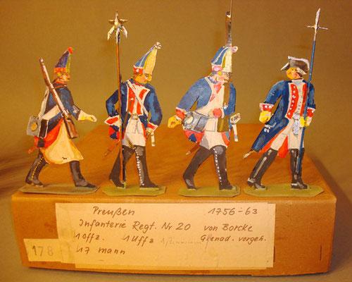 Schachtel 178 - Bild 1  - Preußen Grenadiere Infanterie-Regiment von Borcke Nr. 20