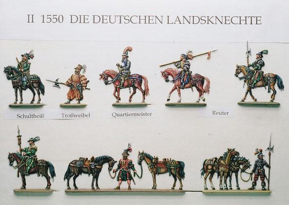 Stoll-Serie  - Deutsche Landsknechte II - Höhe 30mm - Sammlung und Bemalung Stoll