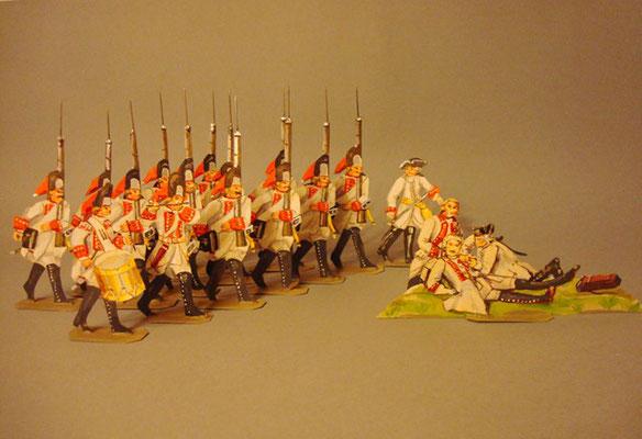 Schachtel 194 - Bild 2  - Österreich Grenadiere gelb vorgehend