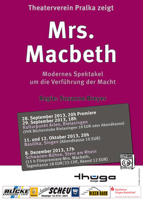 Mrs. Macbeth Theater Pralka