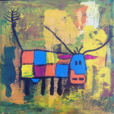 Colored Square Cow