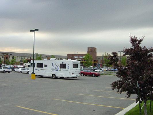 Walmart Parkplatz