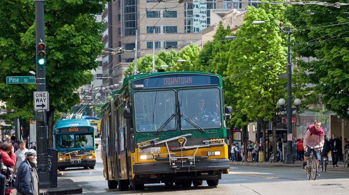 Mit dem Bus geht es nach Everett