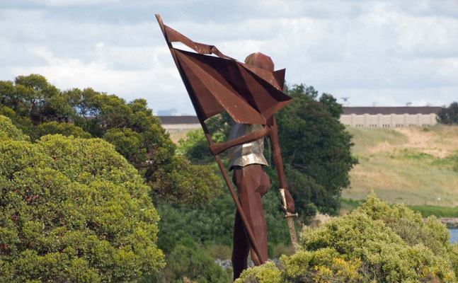 Sir Francis Drake 10 m Meter hohe Metalsculptur