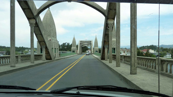 Siuslaw River Bridge in Florence, Oregon