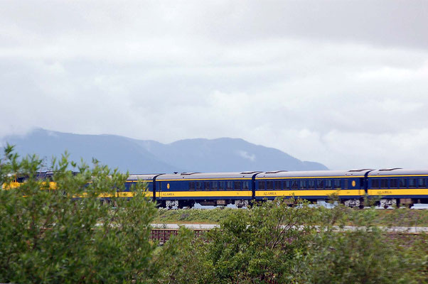 Alaska Railroad am Turnagain Sound