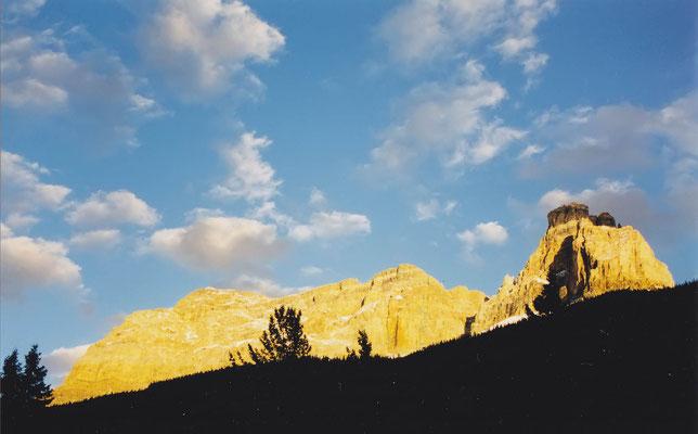 Blick am Morgen vom Kicking Horse Campground