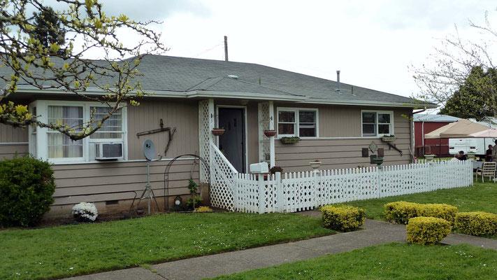 das Haus vom Bruder des Schwiegersohns unseres Peters im Team, Dallas, Oregon