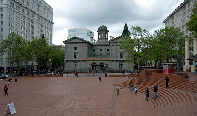 The Pioneer Courthouse, Downtown, Portland