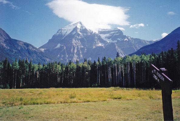 Mt. Robson mit 3.954 m der höchste Berg in den Kanadischen Rocky Mountains
