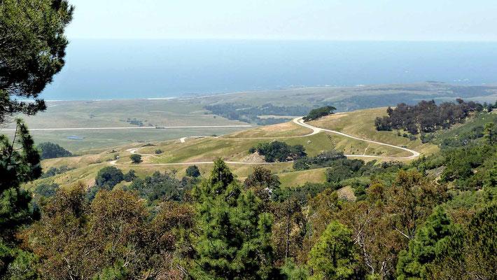 Blick zum Pacific von Hearst Castle