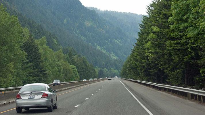 auf der I-84 zurück nach Portland