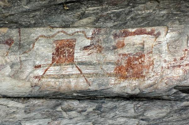 Die Felszeichnungen sind über 4.000 Jahre alt, Seminole Canyon State Park