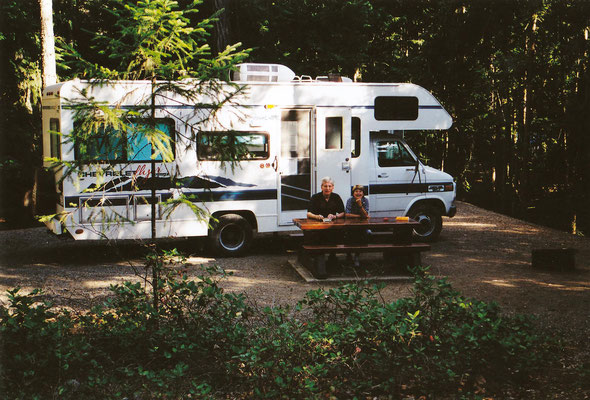 Renate und Helmut im Mosquito Creek Campground