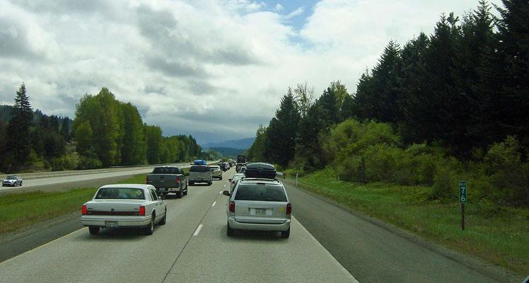 I-90 nahe Annette Lake (vor dem Snoqualmie Pass)
