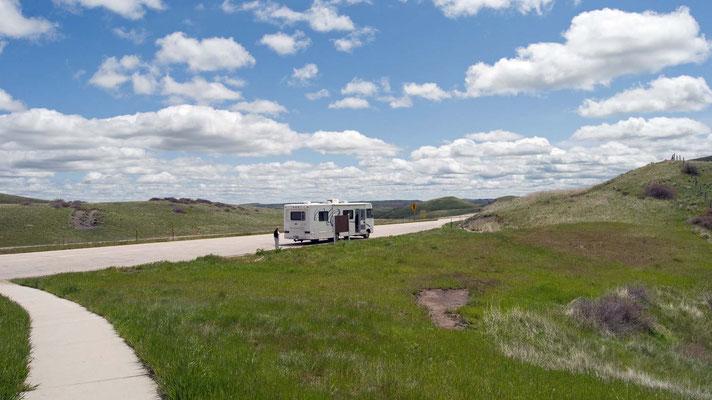 Rastplatz zwischen Montana und Wyoming