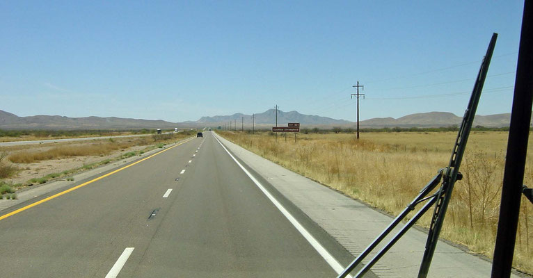 auf der I-10 Richtung Westen, New Mexico