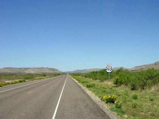 US 90, Texas