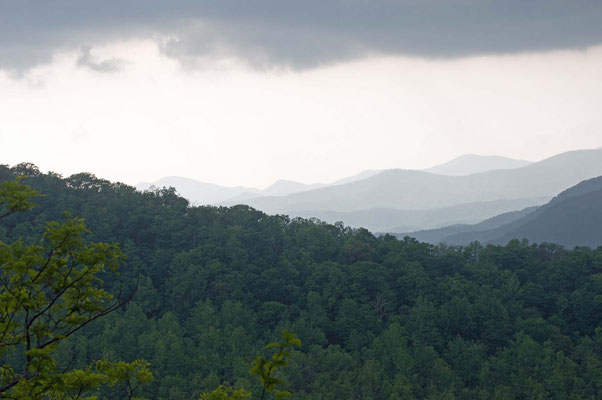 Blick vom Nantahala Overlook, Black Rock Mountain State Park