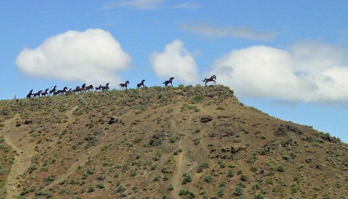 Wild Horse Monument, Columbia River bei Vantage