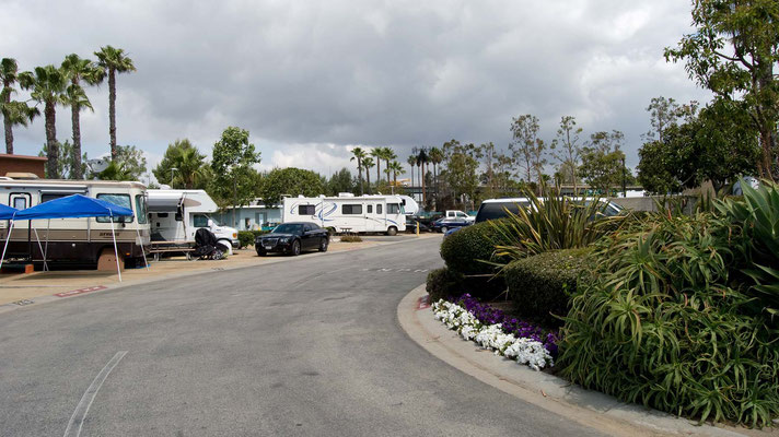 Golden Shore RV Resort, Long Beach