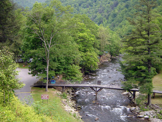 Raven Fork River, River Valley Campground