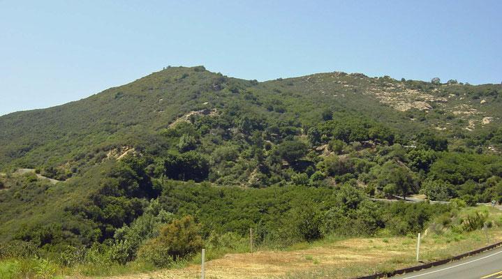 Blick von San Marcos Pass Rd, California