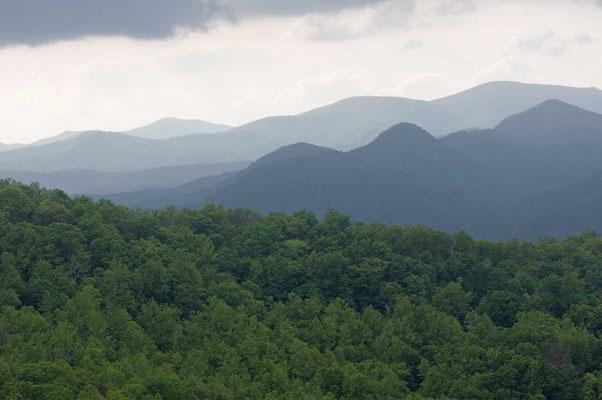 Blick vom Nantahala Overlook, Black Rock Mountain State Park