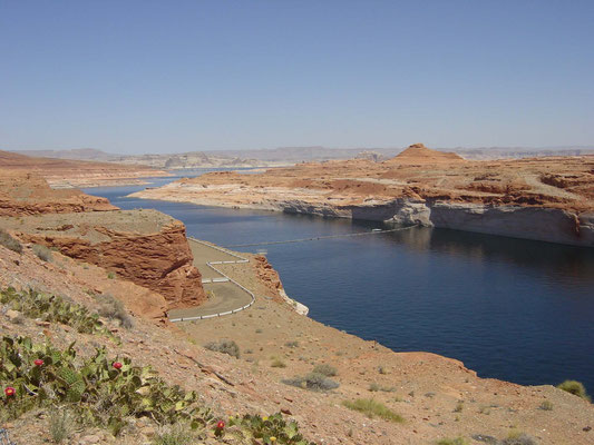 Lake Powell vor dem Glen Canyon Dam, nahe Visiter Center Carl Hayden
