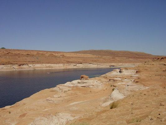 Lake Powell vor dem Glen Canyon Dam