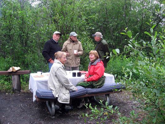 Campground im Matanuska Glacier State Park