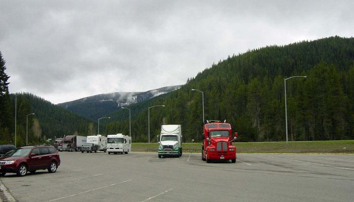 Rastplatz hinter dem Lookout Pass, Montana
