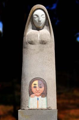 Madonna von Benjamin (Beniamino) Bufano, 1898-1970, Granit-Skulptur auf der großen Wiese am Fort Mason