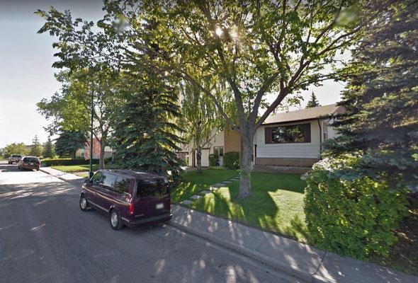 Bernds und Monikas Haus, Calgary (Google Maps)