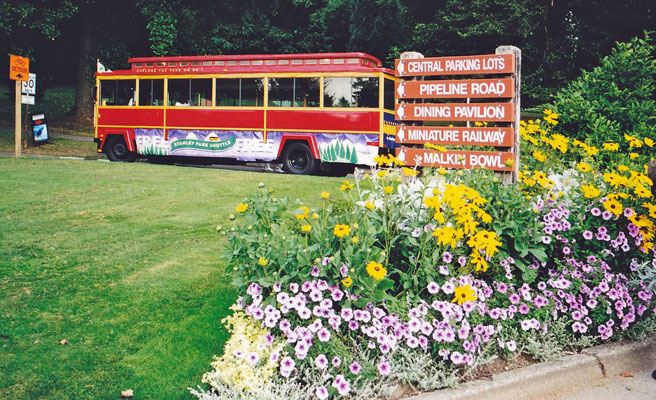 Mit einem Bus zum Stanley-Park