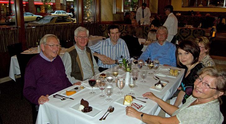 im Heathman Restaurant mit Catrin (Tochter von Renates und Helmuts Freunden) und Mark