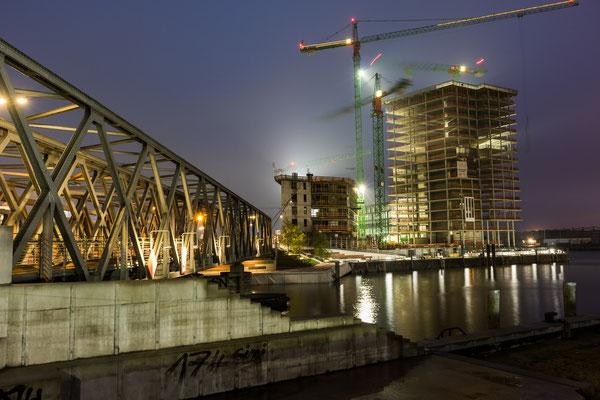 Baustelle in der Nähe der Hafencity Universität