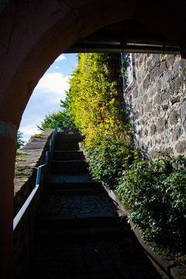 Treppen zur Burg Nordeck
