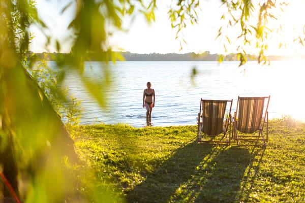 © Sylvia Pollex Fotografie | www.bulli4camp.de auf Naturcamping ZWEI SEEN am Plauer See in der Mecklenburgischen Seenplatte
