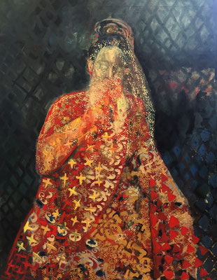 DANAE,  160x 130 cm,  oil on canvas, 2014