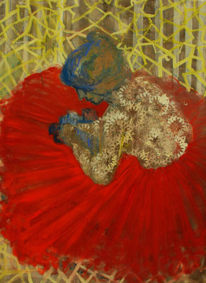 Woman in Red Skirt 120 x 150cm  oil on canvas,2015