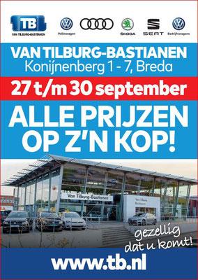 Buitenreclame - Automotive Sales Event - Van Tilburg-Bastianen Breda - Volkswagen-Audi-SEAT-ŠKODA - september 2018 - 71 verkochte auto's in 1 weekend