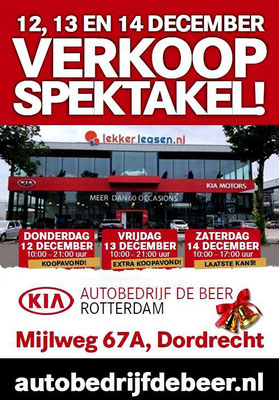 Buitenreclame - Automotive Sales Event - Autobedrijf De Beer Dordrecht - Kia - december 2019