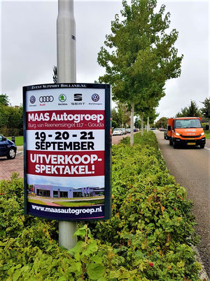 Buitenreclame - 2-signs - Automotive Sales Event - MAAS Autogroep Gouda - Volkswagen-Audi-SEAT-ŠKODA - september 2019