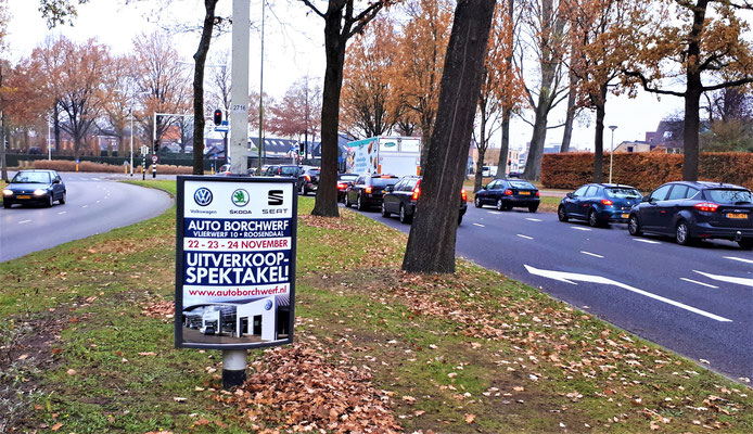 Buitenreclame - 2-signs - Automotive Sales Event - Auto Borchwerf Roosendaal - Volkswagen-Audi-SEAT-ŠKODA - november 2018