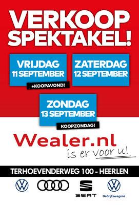 Buitenreclame - Automotive Sales Event - Wealer Heerlen - Volkswagen-Audi-SEAT-ŠKODA-Volkswagen Bedrijfswagens - september 2020